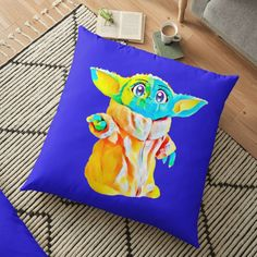 'Hug me - I am young in Galaxy' Floor Pillow by StefaniaAlina Hug Me, Pillow Design, Floor Pillows, Mothers, Thats Not My, Finding Yourself, My Arts, Vibrant, Flooring