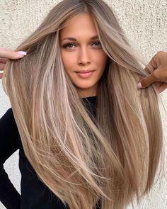 Balayage hair style ideas– Just Trendy Girls: Gorgeous Hair Color, Cool Hair Color, Beige Hair Color, Hair Color Ideas, Level 7 Hair Color, Perfect Hair Color, Cute Hair Colors, At Home Hair Color, Hair Colours