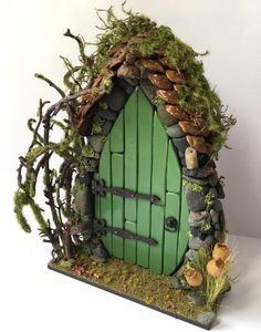 Handmade Light Up Woodland Fairy Door  by LittleWrenCottage