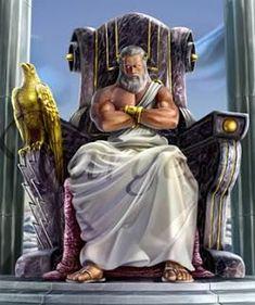 Mitología: Dioses Griegos #1 ZEUS Greek Creatures, Greek Mythological Creatures, Fantasy Creatures, Greek Mythology Gods, Greek Gods And Goddesses, Roman Mythology, Tattoo Zeus, God Tattoos, Roman Gods