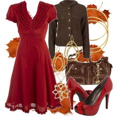 frilly red dress!