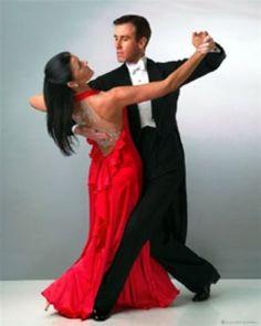 Ballroom dancing in red