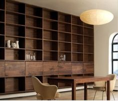 wood Shelves Built In Bookshelves is part of Modern wood furniture - Welcome to Office Furniture, in this moment I'm going to teach you about wood Shelves Built In Bookshelves Modern Wood Furniture, Furniture Design, Furniture Makers, Furniture Websites, Furniture Stores, Bookshelves Built In, Built Ins, Handmade Bookshelves, Bookcases