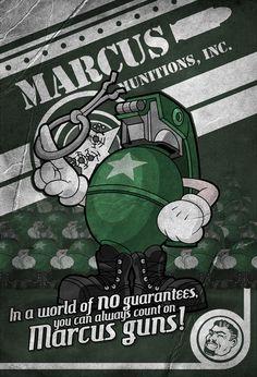 Marcus Munitions logo concept. Very awesome! #Borderlands #Nerd #Logo #MarcusMunitions