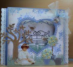 Astrids Kaarten: maart 2013 Marianne Design, Paper Crafting, Birthday Cards, Joy, Concept, Frame, Flowers, Crafts, Leaves