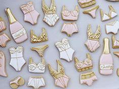 Bachelorette Party Cookies, Bachelorette Decorations, Bachelorette Party Planning, Bridal Shower Decorations, Lingerie Shower Cookies, Bridal Lingerie Shower, Bridal Shower Flowers, Bridal Showers, Lingerie Party
