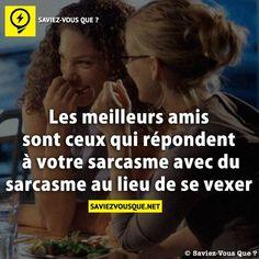 Saviez Vous Que? | Les meilleurs amis sont ceux qui répondent à votre sarcasme avec du sarcasme
