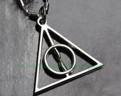 Steampunk Deathly Hallows Necklace by MagicValley on Etsy, $4.99