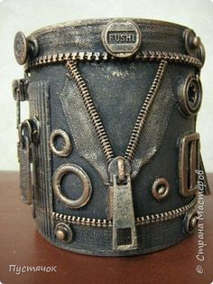 Tin Can Crafts, Diy Crafts For Gifts, Jar Crafts, Home Crafts, Tin Can Art, Tin Art, Crafts To Do When Your Bored, Steampunk, Craft Markets