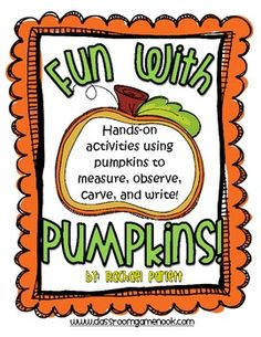 Fun with Pumpkins - Science Pumpkin Carving Activity - $3.50