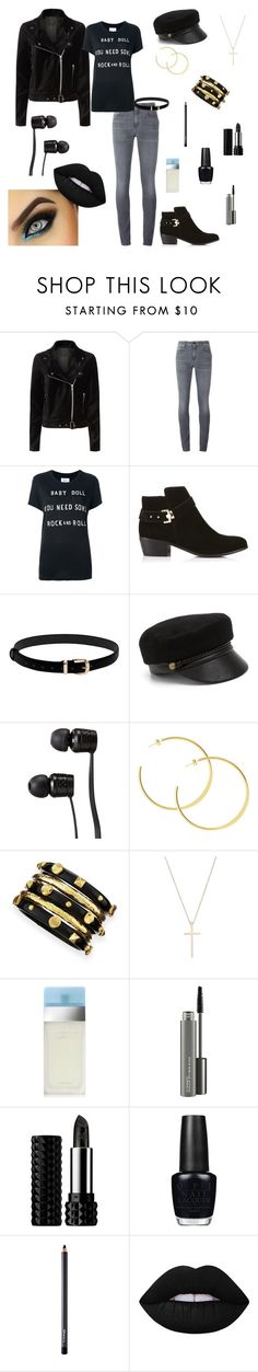 """""""Baby Doll You Need Some Rock and Roll"""" by rboowybe ❤ liked on Polyvore featuring Paige Denim, Yves Saint Laurent, Zoe Karssen, Miss Selfridge, Eugenia Kim, Vans, Ashley Pittman, Tiffany & Co., Dolce&Gabbana and MAC Cosmetics"""