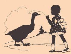 Goosey, Goosey, Gander unknown illustrator by katinthecupboard, via Flickr