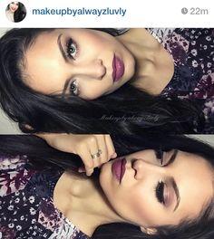 NYX cosmetics in prune lip color