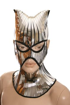 baphomet catwoman fetish mask warrior headpiece armor sci fi  futuristic steampunk cyber headdress cybergoth