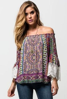 Patrons Of Peace Off The Shoulder Top #bell-sleeve-off-the-shoulder-top #Off-the-shoulder-tops #Patrons-Of-Peace-off-the-shoulder-top