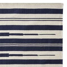 Aura Stripe Indoor/Outdoor Rug Swatch, Navy