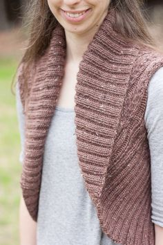 Brown Stitch Lizzy Vest