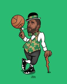 Kyrie NBA Art Celtics #wmcskills