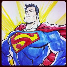 Superman by Vince Sunico - this commission was done for a child's room!