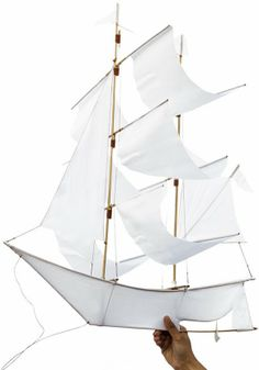 Set sail and soar on the winds with a Sailing Ship Kite. Our unique collection is made in collaboration with Balinese artisans exclusively for Haptic Lab, and each handcrafted Haptic Lab, Kite Tail, Kite Making, Set Sail, Balinese, Outdoor Fun, Sailboat, Sailing Ships, Cool Stuff