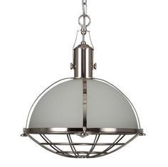 Manufactured in Ireland, this quality brass, steel and prismatic holophane glass pendant is a modern version of traditional industrial factory pendants. The holophane glass is covered by a protective cage. Style Direct, Light Picture Wall, Industrial Hanging Lights, Factory Lighting, Bathroom Wall Sconces, Contemporary Pendant Lights, Glass Diffuser, Outdoor Wall Lighting, Satin
