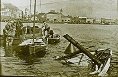 Aftermath of the collision of the Newcastle to Stockton ferry Bluebell and the freighter Waraneen, Newcastle, NSW, August 1934 | by UON Library,University of Newcastle, Australia