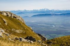 Between two ranges: the French Alps and the Mont Blanc Massif, viewed from the French Jura.