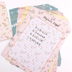 flowers bird 3pcs paper Envelope+6sheets letter paper stationery Office & School Supplies envelope for Wedding Letter Invitation