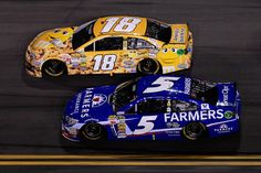 #5Kahne vs #18Busch good battles,Kryle will put Kahne in the wall,every-time,{does everyone,how he's got W's}
