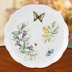 (2) Butterfly Meadow® Tiger Swallowtail Dinner Plate by Lenox
