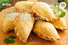 Empanadas de jamón y queso con masa de cerveza | Marco Beteta
