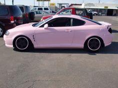 cool Pink Cars: Pink Hyundai Tiburon - Awesome Girly Cars & Girly Stuff!...  Cars