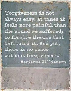and there is no forgiveness without an apology...