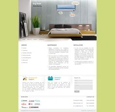 Webfin Studios Design Work - AC Installation Company