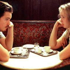 Cafe sperl - Vienna -!Before Sunrise (1995) A young man and woman meet on a train in Europe, and wind up spending one evening together in Vienna. Unfortunately, both know that this will probably be their only night together. (105 mins.) Director: Richard Linklater Stars: Ethan Hawke, Julie Delpy, Andrea Eckert, Hanno Pöschl