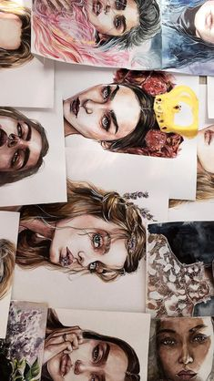 Fashion sketches face watercolour Ideas for 2019 Art Sketches, Art Drawings, Fashion Sketches, Art Et Design, Illustration Mode, Illustration Techniques, Arte Sketchbook, Art Hoe, Art Photography