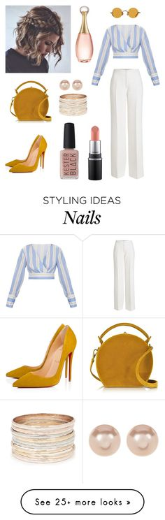 """Untitled #2"" by qamar-hytham on Polyvore featuring Agnona, Bertoni, Christian Louboutin, Hakusan, Nordstrom Rack, Kester Black, Christian Dior and statementbags"