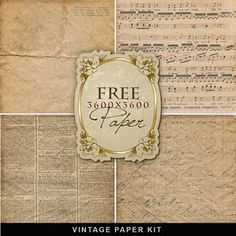 Freebies Vintage Paper