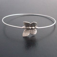 Maids gift?   Cute Butterfly Bracelet Butterfly Jewelry by FrostedWillow on Etsy, $16.95