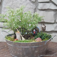 Create this cute fall themed fairy garden for your Thanksgiving table or place it on your porch to entice some magical guests!