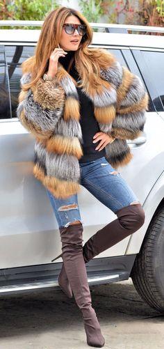 NEW SAGA FOX SILVER GOLD FUR JACKET CLAS OF CHINCHILLA SABLE COAT MINK VEST LONG   eBay