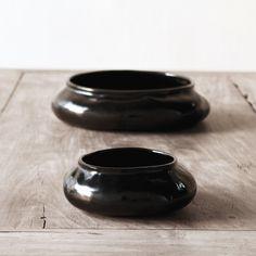 Alexander Lamont natural lacquer, Ripple bowls.