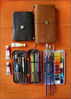 Okay, I'll pile on with my countdown list of favorite art tools and materials of . Okay, I'll pile on with my countdown list of favorite art tools and materials of My discove Susanoo Naruto, Watercolor Kit, Art Storage, Urban Sketching, Art Graphique, Travel Kits, Art Plastique, Travelers Notebook, Art Studios