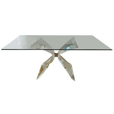 Signed Lion in Frost Lucite Dining Table   From a unique collection of antique and modern dining room tables at http://www.1stdibs.com/furniture/tables/dining-room-tables/