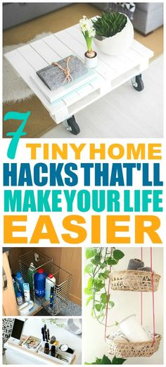 7 Genius Hacks for Living in a Small Space Small Cabin Plans, A Frame House Plans, Tiny House Trailer, Organization Hacks, Organization Ideas, Organize Your Life, Tiny House Living, Home Trends, Shed Plans