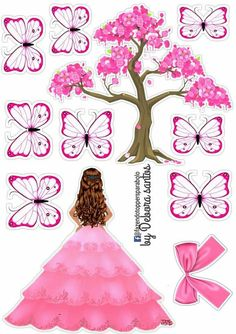 Kids And Parenting, Biscuit, Cake Toppers, Butterflies, Aurora Sleeping Beauty, Scrapbooking, Paper Crafts, Templates, Birthday