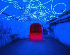 Tunnel of Tears 2002 by Keith Sonnier @ Zentrun Fur Internationale Lichtkunst via lichtkunst-unna.de