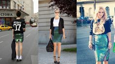 Upper Attitude: wearing H&M green sequin skirt