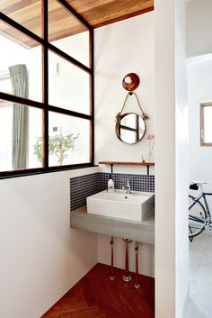 In the pocket|HUGHOME Natural Interior, Washroom, Double Vanity, Home Goods, Villa, Interiors, House, Home, Laundry Rooms