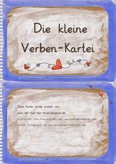 Deutsch in der Grundschule: Verben-Kartei
